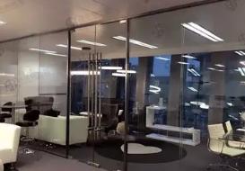 铝合金无框玻璃隔断